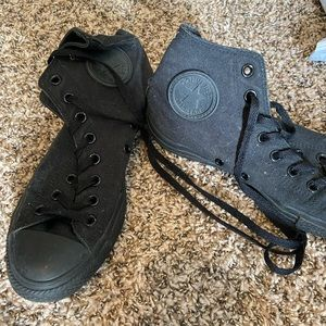 All black converse size 9 women's